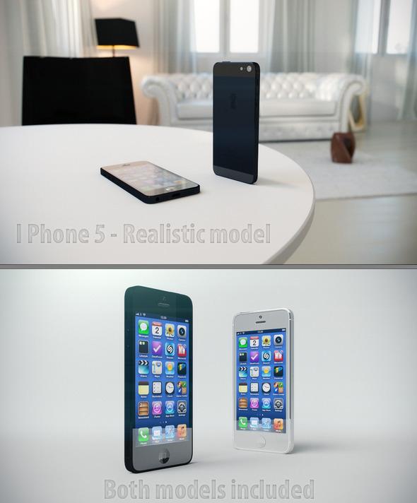 3DOcean iPhone 5 Realistic model 3027651