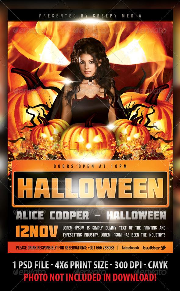 Creepy Halloween Party Flyer Cute Halloween Flyer Templates