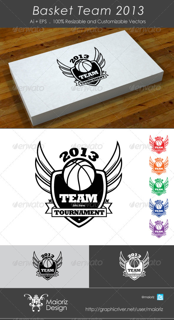 Basketball Team 2013 - Vector Abstract