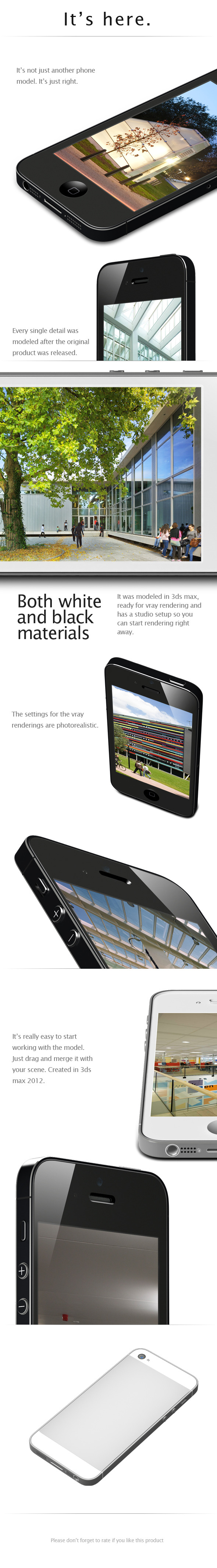 3DOcean iPHONE 5 realistic model 3043160