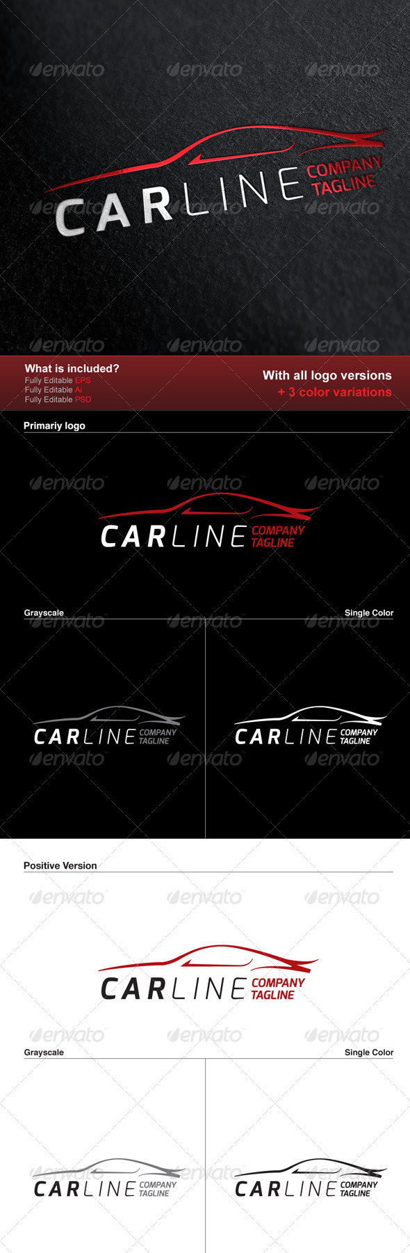GraphicRiver Car Line Logo 2983416