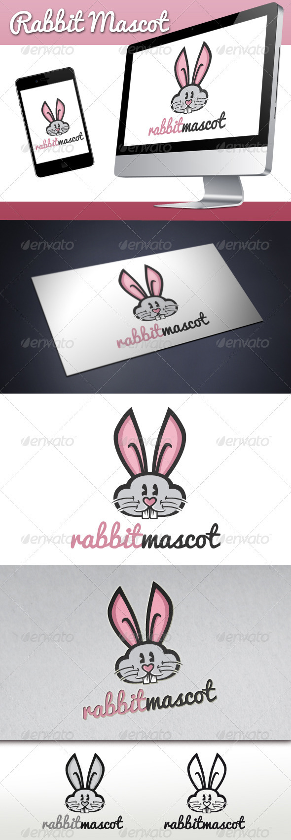 Rabbit Mascot Logo