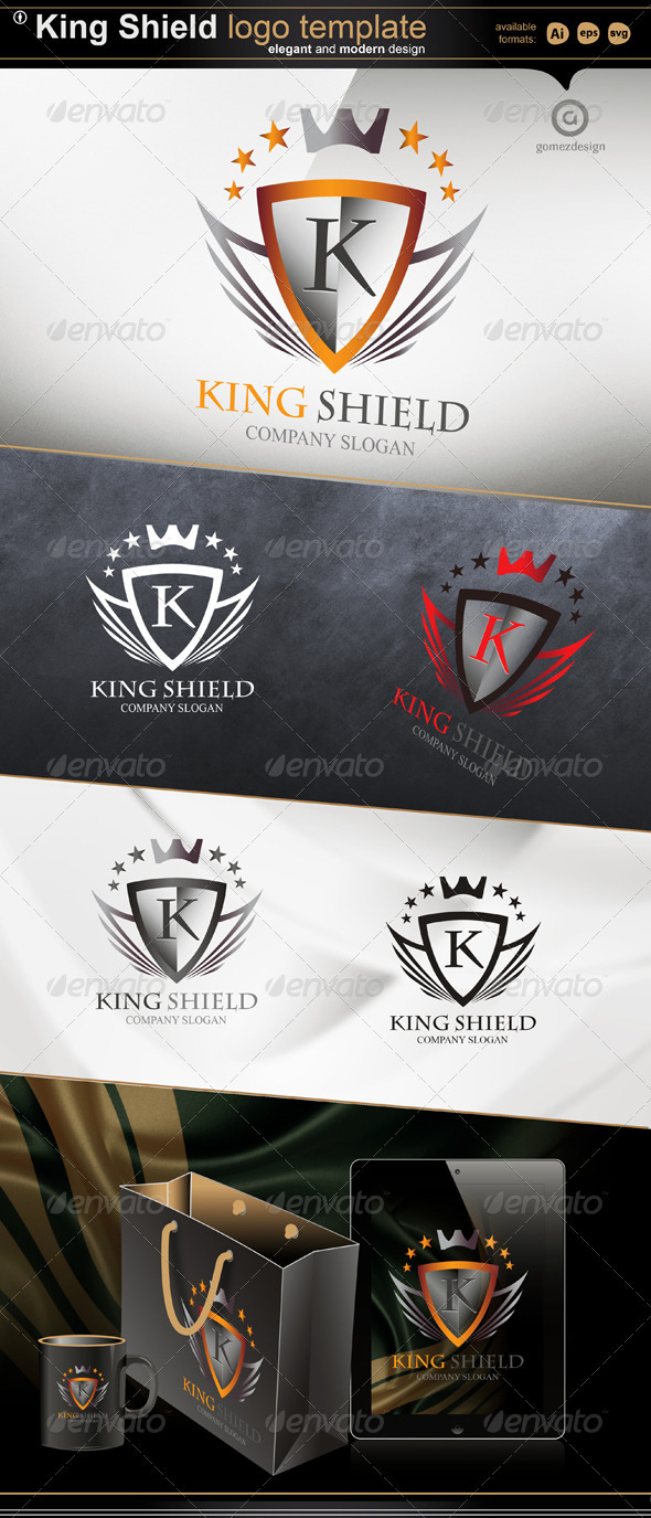 King Shield - Objects Logo Templates