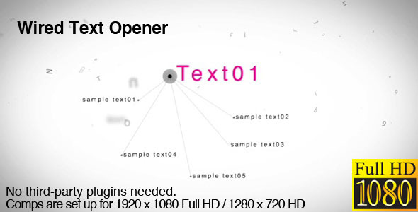 VideoHive Wired Text Opener 3043389