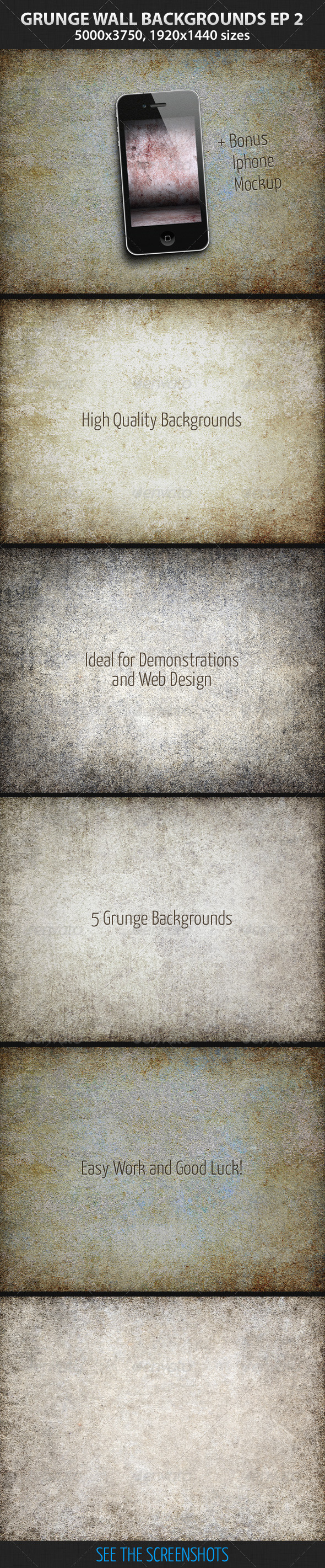 GraphicRiver 5 Grunge Wall Backgrounds Ep.2 3043430