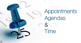 Appointments, agendas and dates