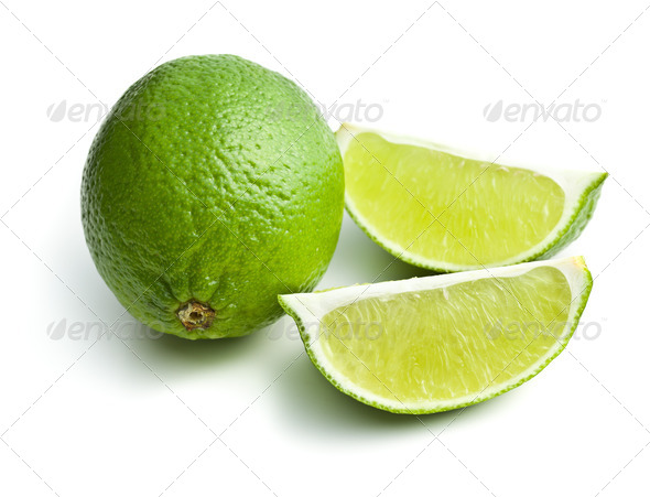 sliced lime - Stock Photo - Images