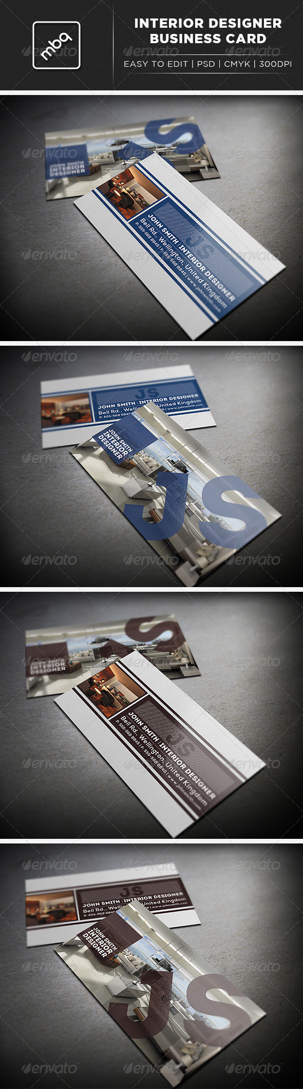 Interior Designer Business Card - Industry Specific Business Cards