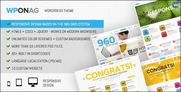 ThemeForest WPONAG Digital Agency Responsive Portfolio 2807087