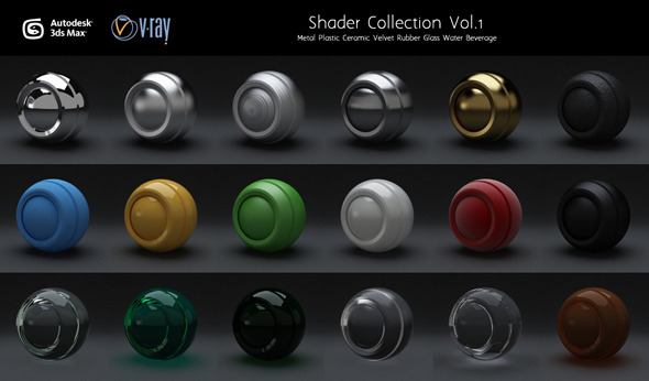 3DOcean Vray Shaders Set.1 3045808