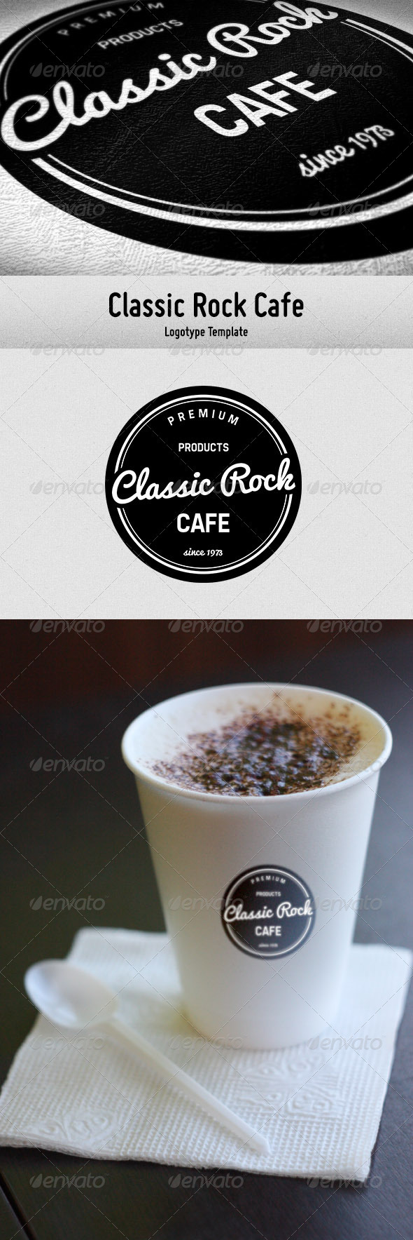 Classic Rock Cafe - Crests Logo Templates