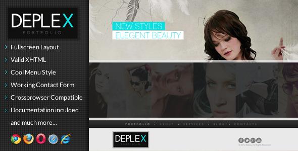 Deplex -  Fullscreen Onepage Portfolio Template