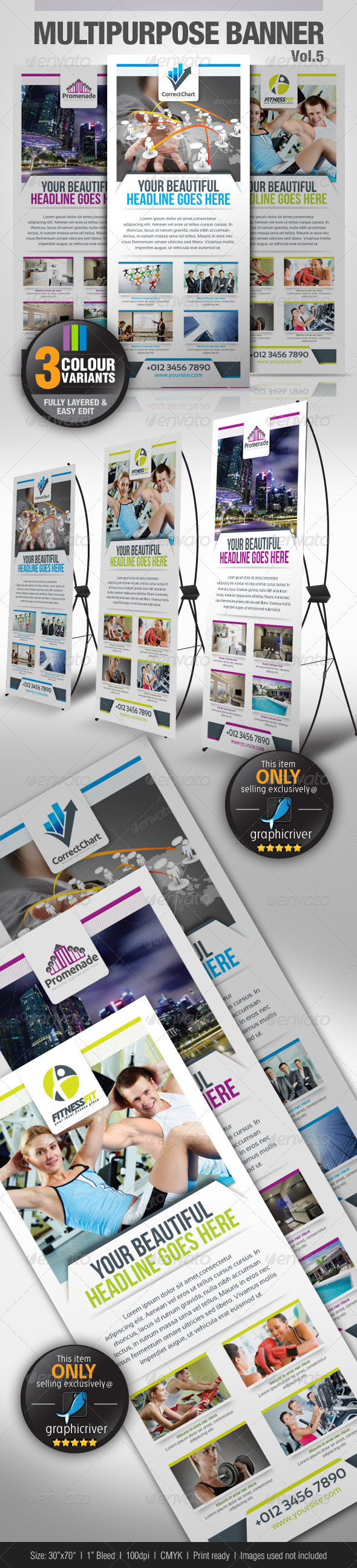 GraphicRiver Multipurpose Banner Vol.5 3047323