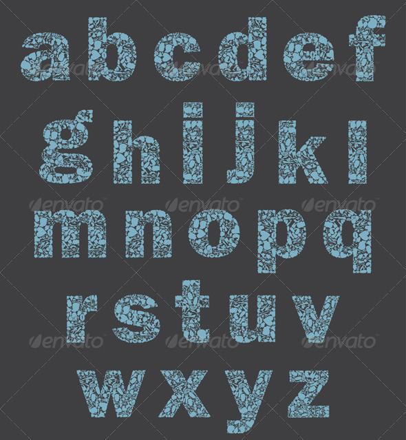 Alphabet of a part of a body - Miscellaneous Vectors