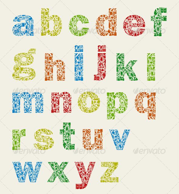 Art alphabet - Miscellaneous Vectors