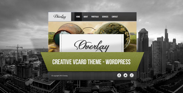 Overlay - Creative Wordpress Vcard