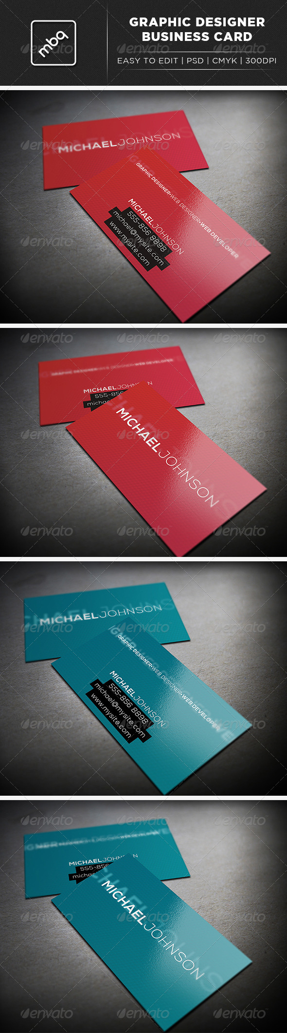 Minimalist Graphic Designer Business Card - Creative Business Cards