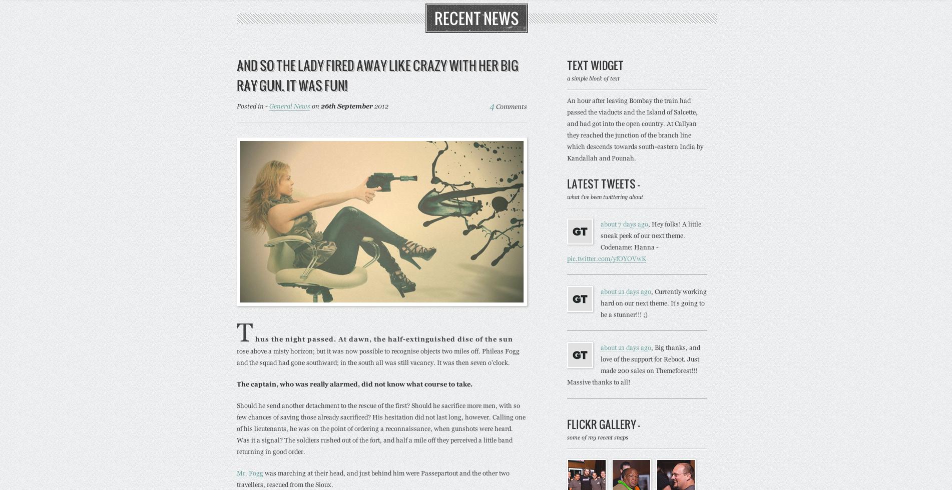 HANNA - Responsive Retro HTML5/CSS3 Template
