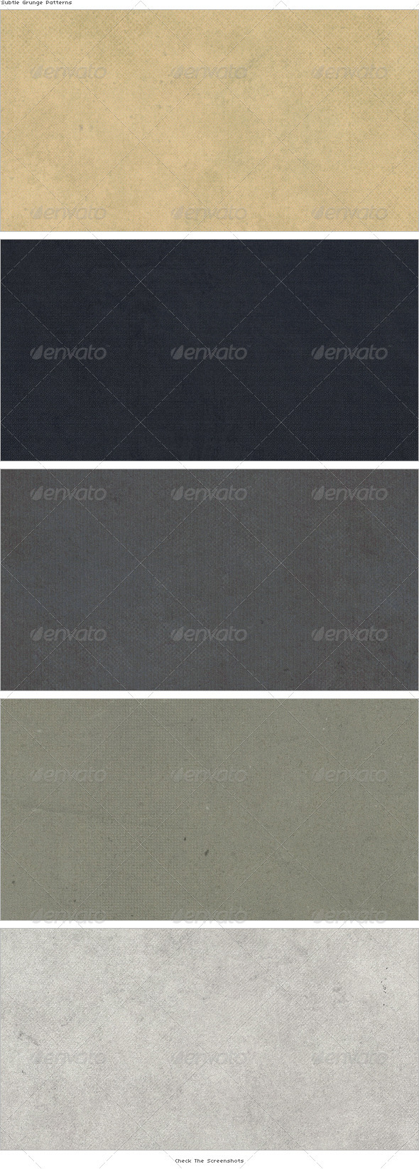 GraphicRiver Subtle Grunge Patterns 3047979