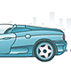 going vector car with background - ActiveDen Item for Sale