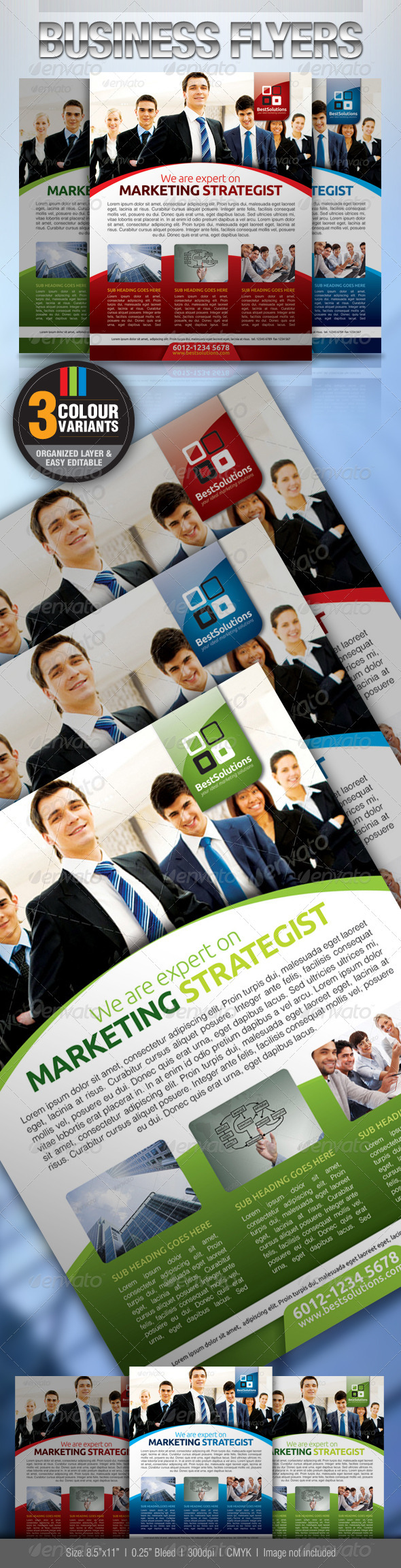 GraphicRiver Simple & Clean Corporate Flyer 2540138