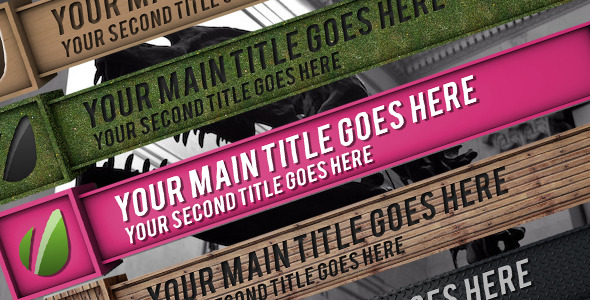 After Effects Project - VideoHive Material Box Lower Third Pack 3048313