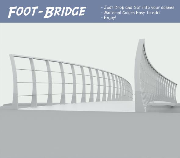 3DOcean Foot-Bridge 108365