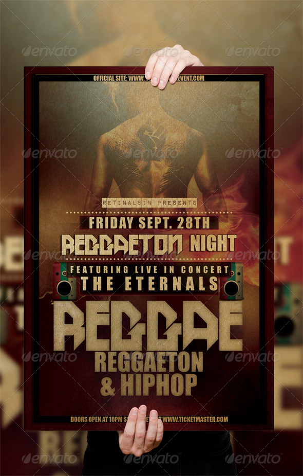 GraphicRiver Reggae Poster Flyer Template 3048315