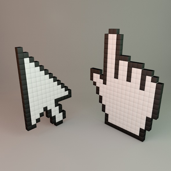 Pixel Cursors - 3DOcean Item for Sale