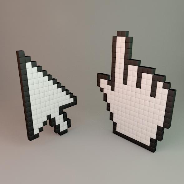 Pixel Cursors - 3DOcean Item for Sale