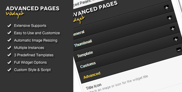 CodeCanyon Advanced Pages Widget WordPress Premium Plugin 637627