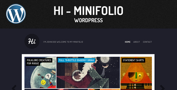 Minifolio Wordpress Theme