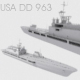 Highly Detailed Ship ''USA DD 963'' Model - 3DOcean Item for Sale