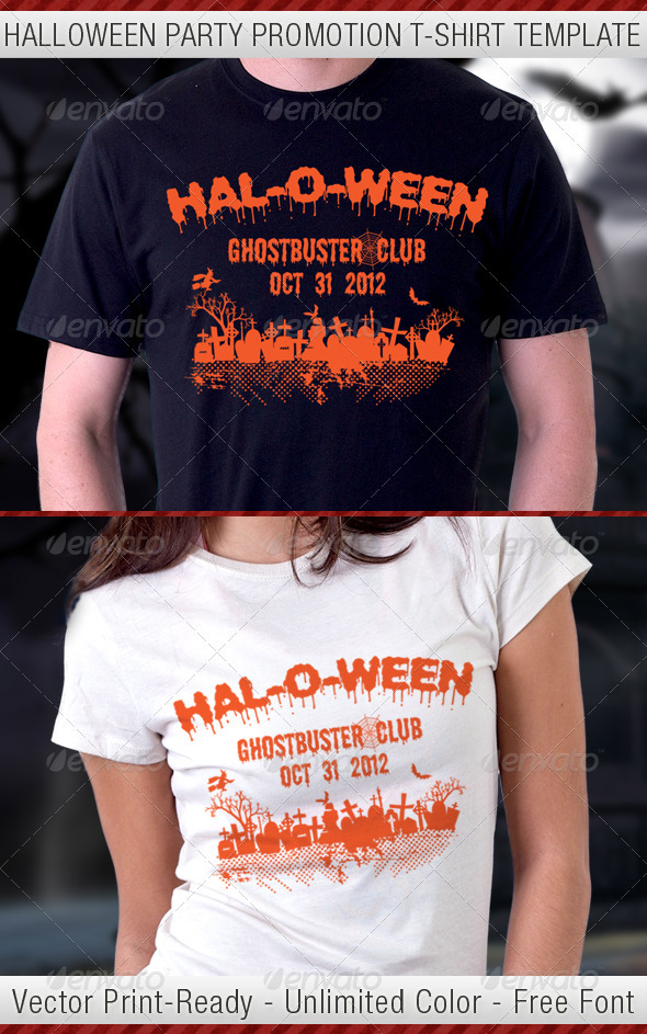 Halloween Party T-Shirt Template V2