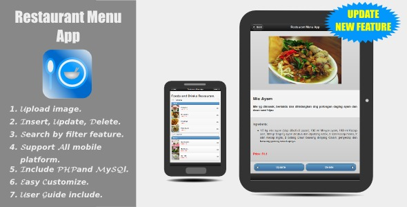 Restaurant Menu App : JQuery Mobile - CodeCanyon Item for Sale