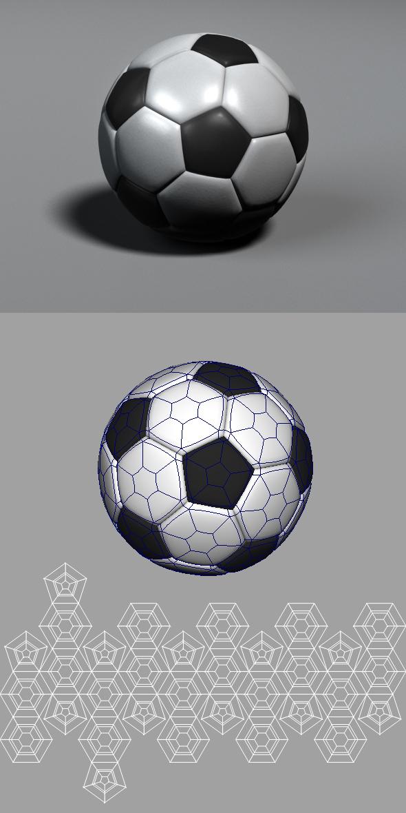 3DOcean Soccer Ball 108065