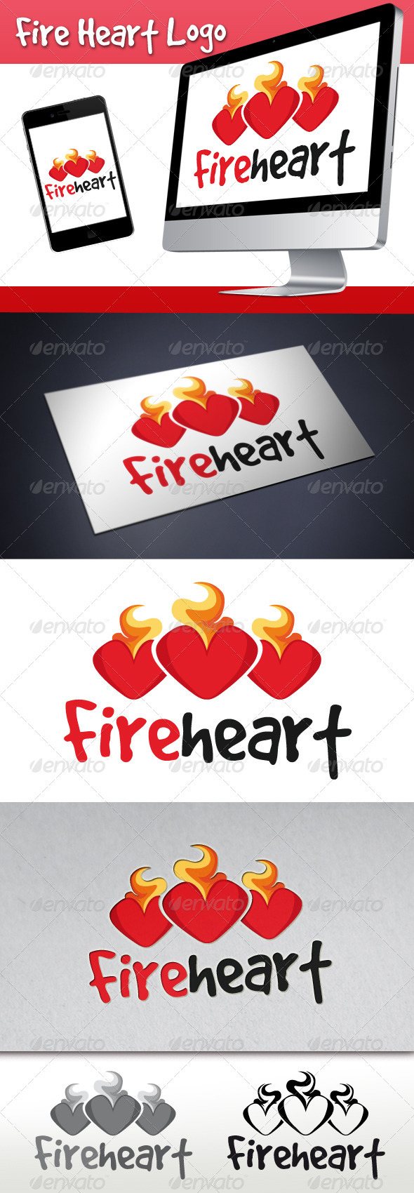 Fire Heart Logo