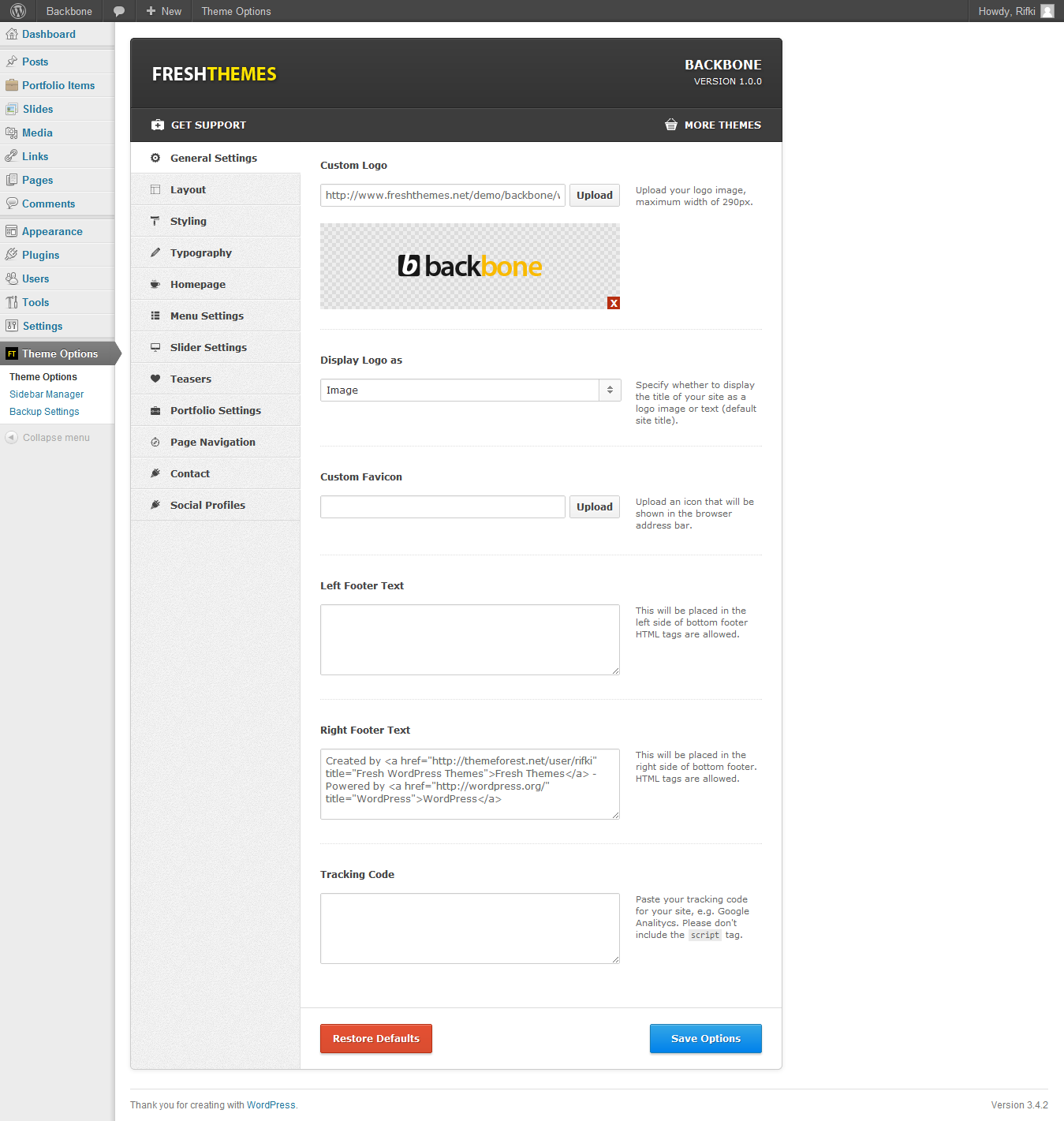 Backbone - Responsive Business WordPress Theme
