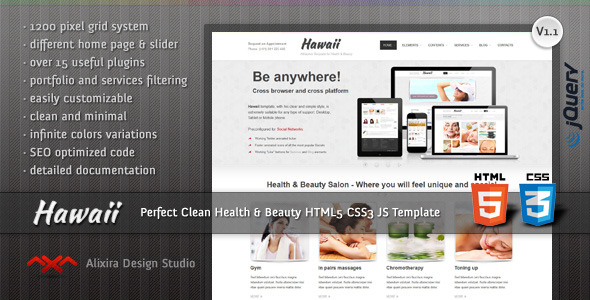 Hawaii - Attractive Template for Health & Beauty