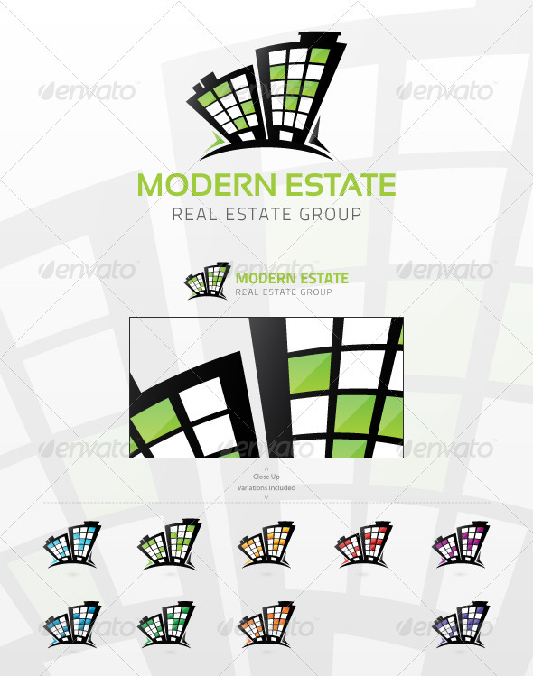 Modern Estate - Buildings Logo Templates