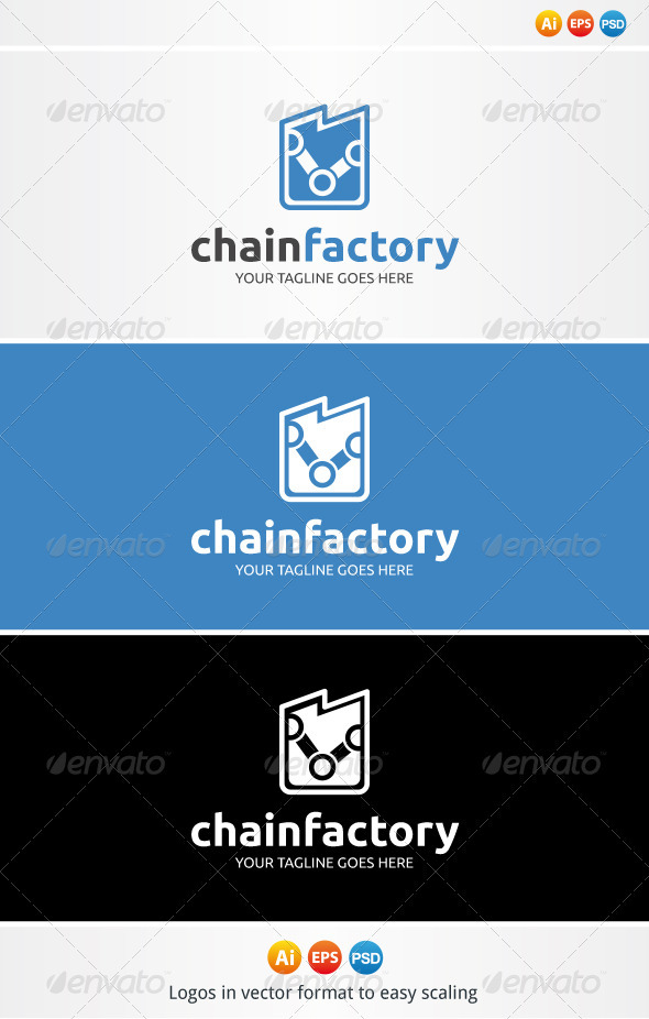 Chain Factory Logo - Symbols Logo Templates