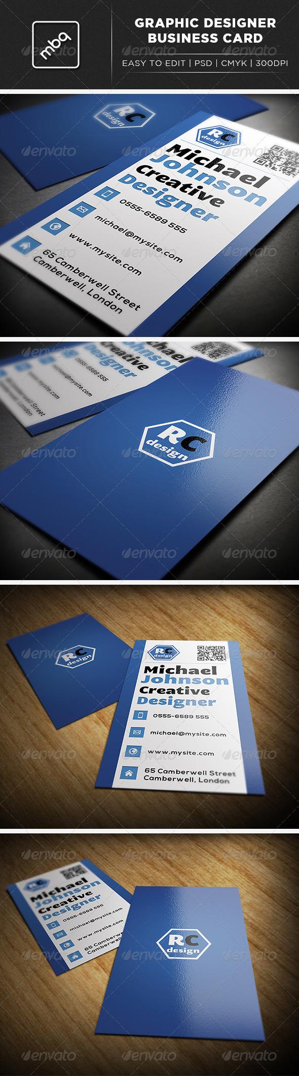 GraphicRiver Graphic Designer Business Card 3052519