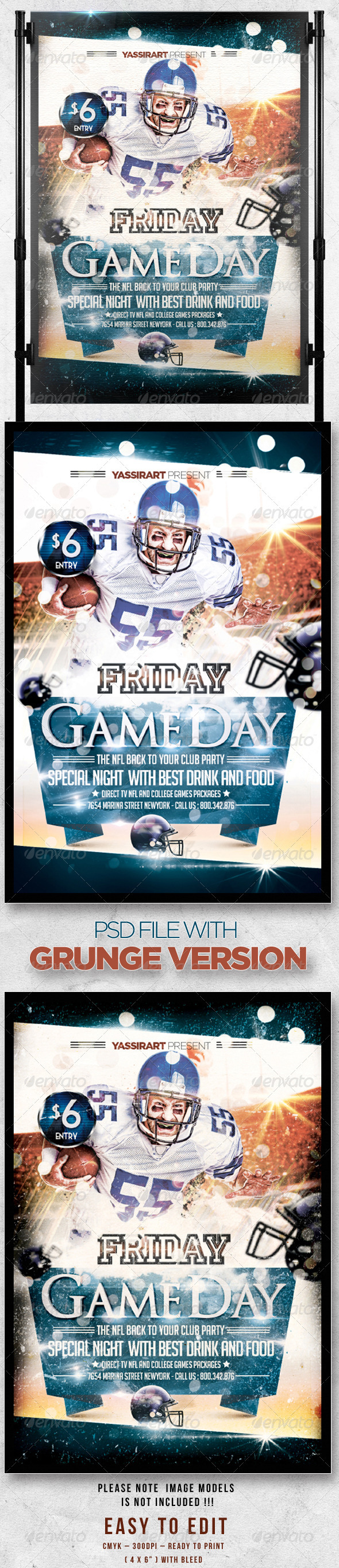 GraphicRiver Friday Game Day Flyer Template 3035882