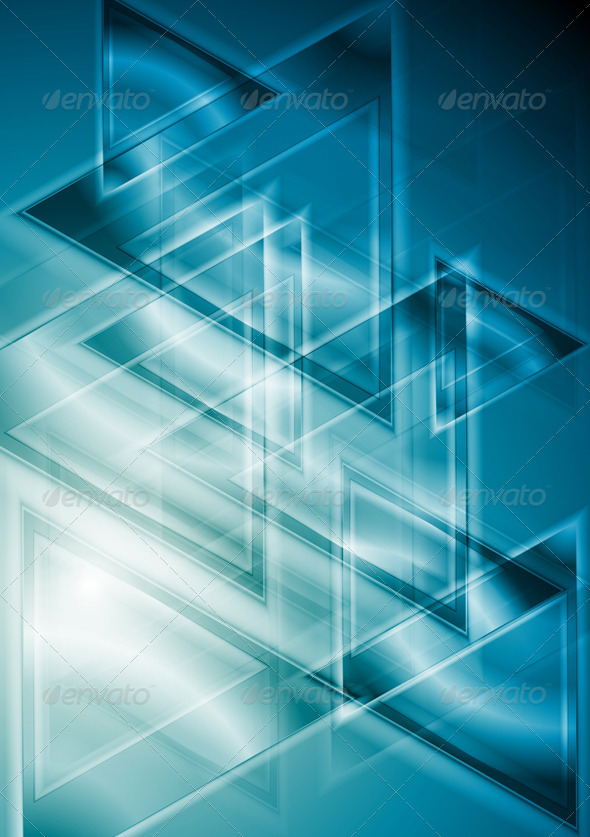 Bright blue vector design - Backgrounds Decorative