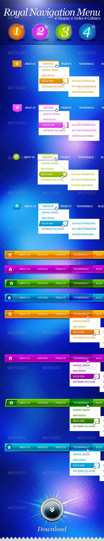 Royal Navigation Menu Bars - Navigation Bars Web Elements