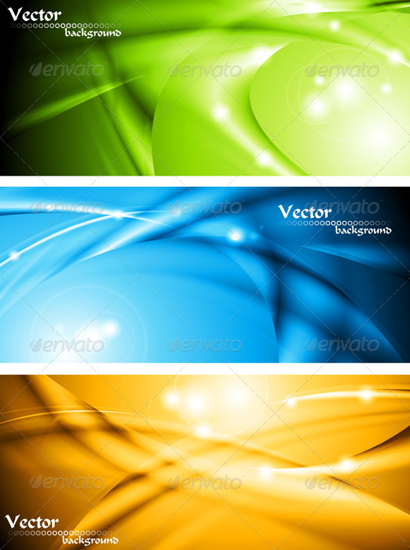 Abstract glowing banners collection - Backgrounds Decorative