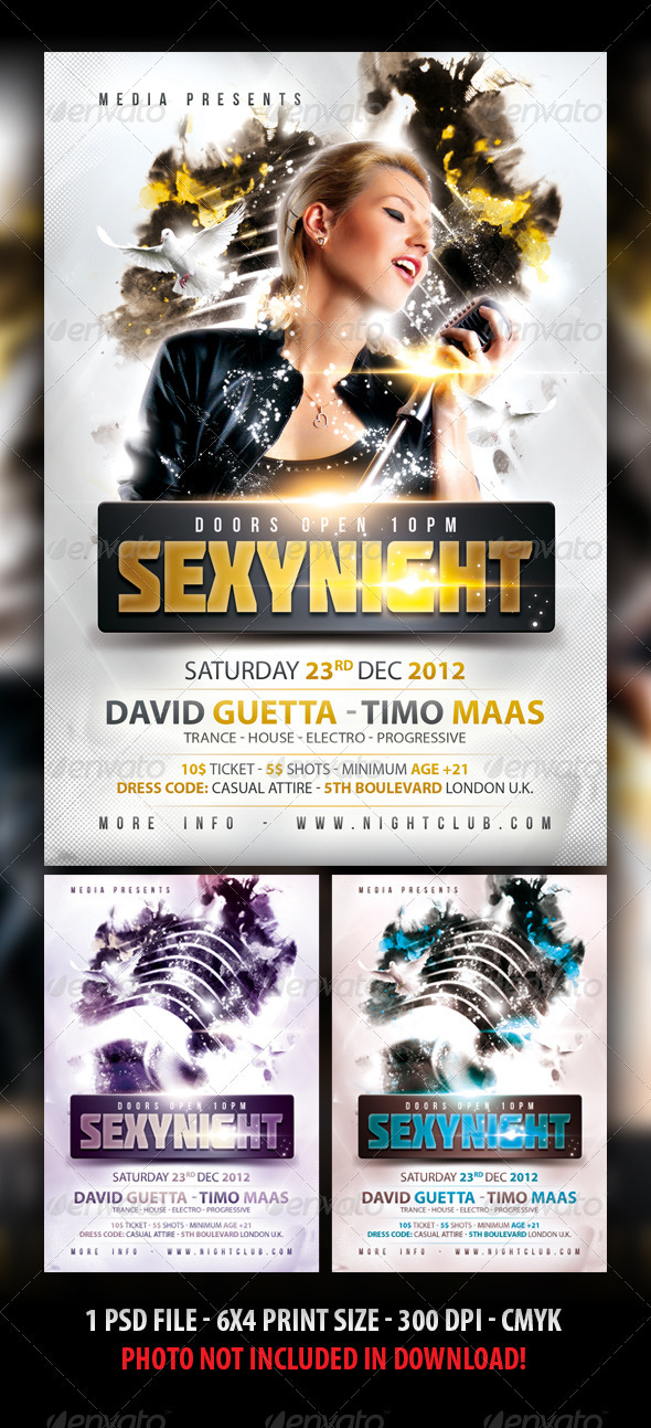 Sexy Party Flyer Template - Clubs & Parties Events