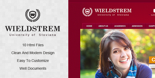 ThemeForest WieldStrem University 3054201