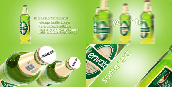 VideoHive Beer Bottle Commercial 3054608
