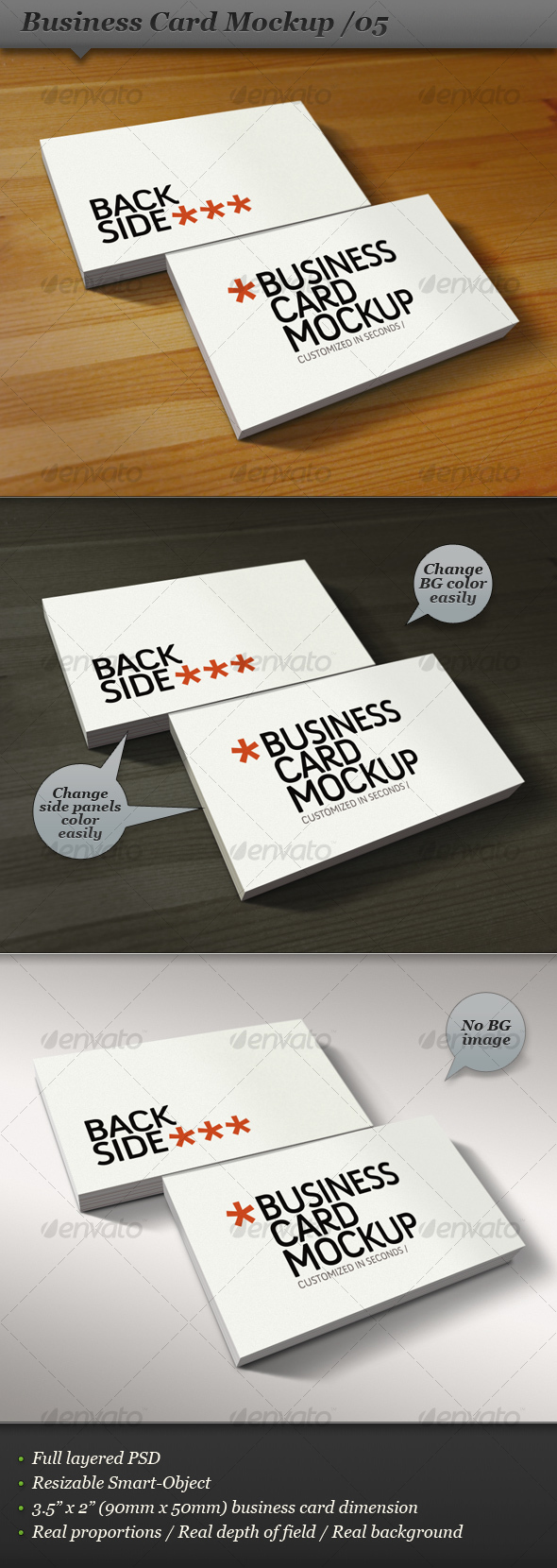 Business card mockup display smart template 05 for Business card display template